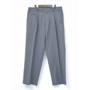 【中古】 nanamica (ナナミカ) WIDE PANTS ワイドパンツ 34 HEATHER GREY 17SS SUCS739 イージーパンツ スラックス ワンタック