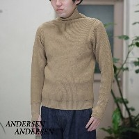 ANDERSEN-ANDERSEN(アンデルセン アンデルセン)/SAILOR SWEATER TURTLE NECK(7Gauge) -CAMEL-