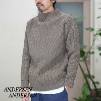 ANDERSEN-ANDERSEN(アンデルセン アンデルセン)/ SAILOR SWEATER CREW NECK(5Gauge) -NATURAL TAUPE-
