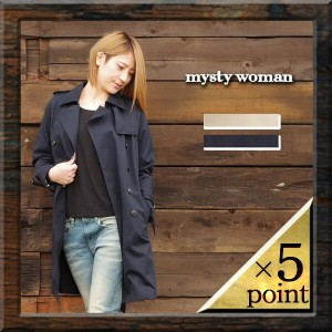 【mysty woman】TRENCH COAT (57222786) Lady's 3color □ 05P03Dec16