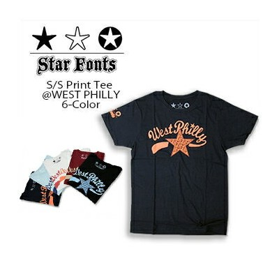 Star Fonts(スターフォンツ) S/S TEE @ WEST PHILLY[SF-10118] 半袖 Tシャツ クルーネック メンズ 【\3,800】【smtb-kd】【RCP】