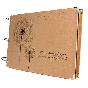 Amoin Scrapbook Vintage Photo Albums Dandelion Printed Surface Ideal Valentines Day Gifts