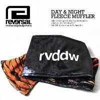 (リバーサル)reversal DAY & NIGHT FLEECE MUFFLER rv17aw024 BLACK FREE