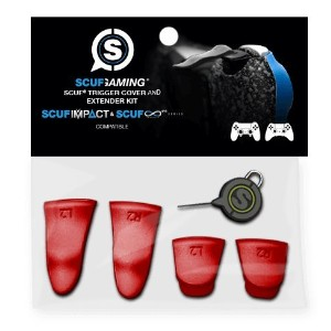 SCUF Trigger Cover and Extender kit|Red [並行輸入品]