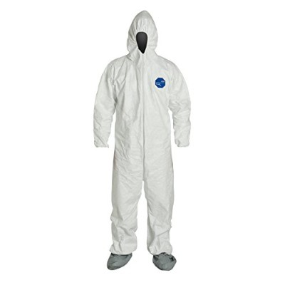 DuPont 251-TY122S-XL Dupont Tyvek Coverall Zip Ft Hd Skid Resist. Xl