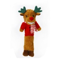 Loofa Reindeer 12 Plush Holiday Dog Toy by Multi Pet