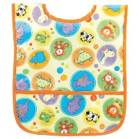 AM PM Kids! Laminated Bib, Zoo Animals, Small by AM PM Kids!