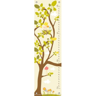 Oopsy Daisy in The Branches Cream Finny and Zook Growth Charts, Pastel Yellow, 12 x 42 by Oopsy...