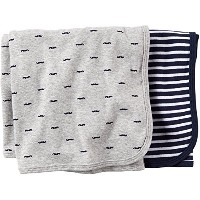 Carter's Carter's 2 pk Swaddle Blanket- Navy Grey - Navy Grey by Carter's