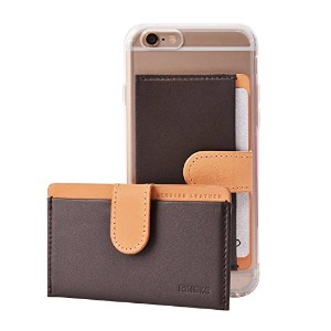 Ringke [Card Holder] 本革 クレジット カード ホルダーレ ケース 背面の3Mテープ for iPhone / Galaxy / LG / Xperia / Huawei /...
