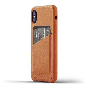 Mujjo 【Full Leather Wallet Case    iPhone 8用  タン】 Full Leather Wallet Case for iPhone X - Tan MUJJO...