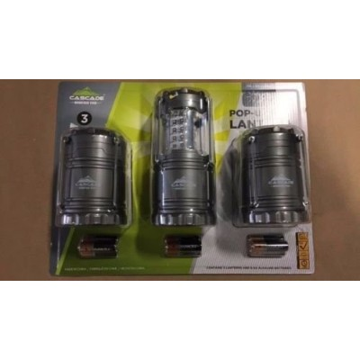 Cascade-Mountain-Tech-Indoor-Outdoor-Pop-Up LED ミニランタン 3個セット LED-Lantern-3-Pack Cascade-Mountain...