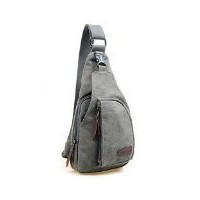 Kalevel CoolアウトドアスポーツCasual Canvas Unbalance Backpack Crossbody Sling Bag Shoulder Bag Chest Bag...