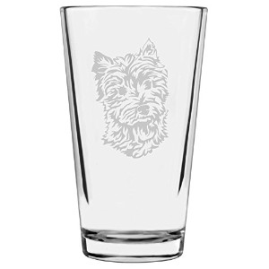犬テーマEtchedすべて目的16oz Libbey Pint Glass W 1639HT