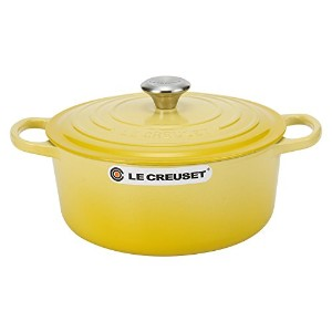 Le Creuset ルクルーゼ SIGNATURE シグニチャー Cocotte ronde 26cm ココットロンド Yellow イエロー 両手鍋 [並行輸入品]