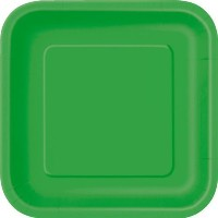 x EMERALD GREEN Square Paper Plates (9/23cm) by Emerald Green