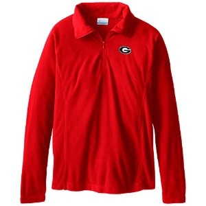 NCAA Georgia Bulldogs Collegiate Glacial II Half Zip Fleece Jacket XS レッド