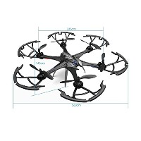 owill i7h 2.4GHz 6CH 6軸ジャイロRCクアッドコプターAir押しAltitude Hold Aircraft / Longコントロール距離 One Size ブラック...