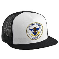 Trucker Hat withアメリカ海軍USS Carl Vinson ( cvn-70 ) Supercarrierエンブレム