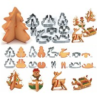 DuoJia Cookie Cutters set-6Piece ElephantHippocampusユニコーン、レインボーと恐竜サンドイッチのフォンダン金型、Bakeware、Bread...