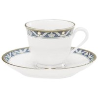 NoritakeパールMajesty夕食後Cup and Saucer、3-ounce