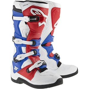 Alpinestars Tech 5 boots-white /レッド/ blue-14