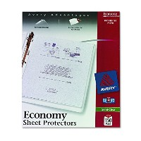 Top-Load Poly Sheet Protectors, Economy Gauge, Letter, Semi-Clear, 100/Box (並行輸入品)