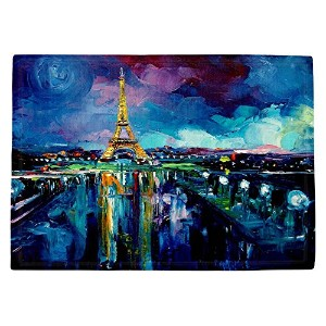 DIANOCHEキッチンPlaceマットby aja-ann–Parisian Night Eiffel Tower Set of 2 Placemats PM-AjaAnnParisianNig...
