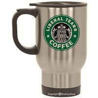 Liberal Tears Funny Starbucksパロディ14オンスコーヒーマグOffice Tea Cup by BeeGeeTees 14 oz シルバー LiberalTears