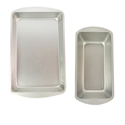 """Bakeware HeavyスチールPans forブラウニー、Biscuits and Breadパンバンドル。11"""" x7"""" × 1.5""""ビスケットブラウニーパンalong with a..."""