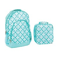 Reinforced Water Resistant学校バックパックand Insulated Lunchバッグセット 13 x 17 x 7.9 inches ブルー CC-BPK1003...