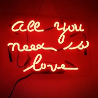 All You Need Is Love RealガラスビールバーパブStore担任Decor Neon Signs 14 x 9