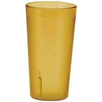 Winco Pebbled Tumblers, 16-Ounce, Amber by Winco
