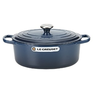 Le Creuset ルクルーゼ SIGNATURE シグニチャー Cocotte Ovale 29 cm ココットオーバル Ink インク 両手鍋 [並行輸入品]