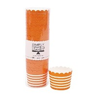 Simply Baked Small Paper Baking Cup 550-Pack オレンジ CSM-114-C