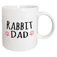 3dローズInspirationzStoreペットデザイン – Rabbit dad – For Bunny Rabbit Lovers andペット所有者 – withピンクPaw Prints ...