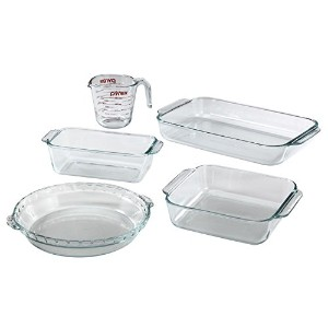 Pyrex BasicsガラスOblong Baking Dish、クリア 5-piece Bakeware