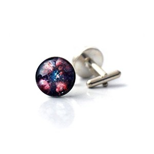 スペースCufflinks with Cat Paw Nebula