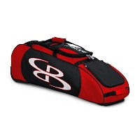 """Boombah Spartan Rolling野球/ソフトボールバットバッグ–38"""" x 12–1/ 2"""" x 12""""–レッド/ブラック–Holds 4Bats and..."""