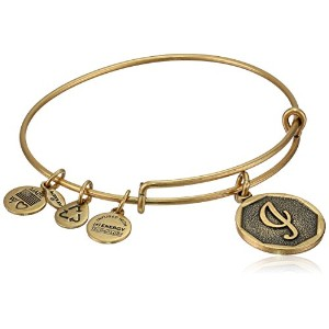 """Alex and Ani Initial Expandable Wire Bangle Bracelet , 2.5"""" X"""