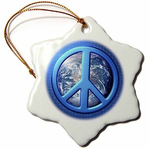 3dローズPerkins Designs Potpourri – Peace on Earth Large Blue Peace Sign Over The Planet Earth –...
