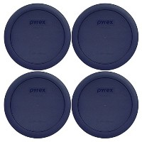 Pyrex 7201-PC Round 4 Cup Storage Lid for Glass Bowls (4, Navy Blue) by Pyrex