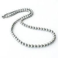 One&Only Jewellery 貝パール 8mm ロングネックレス(グレー/60cm)