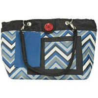 2 Red Hens Rooster Diaper Bag, Blue Chevron by 2 Red Hens