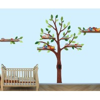 Baby Nursery /子供部屋壁デカール(ツリー、ライオン、モンキーズ、象、Hippoと成長チャート) Tree Only Exp_TreeOnly_Pride