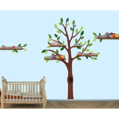 Baby Nursery /子供部屋壁デカールツリー、ライオン、モンキーズ、象、Hippoと成長チャート) Tree Only Exp_TreeOnly_Pride