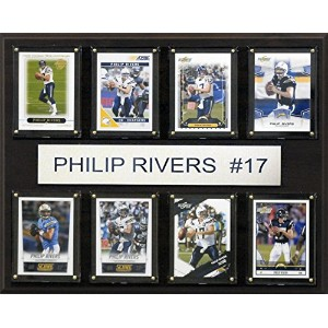 NFL San Diego Chargers Philip Rivers 8-card Plaque、12x 15インチ