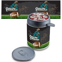 NCAA Coastal Carolina Chanticleers Footballデジタル印刷Can Cooler、1サイズ、シルバー/グレー