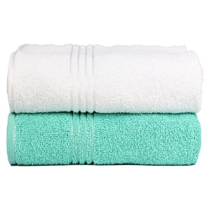 Trident 100%コーマ綿 (バス、ハンド&ウォッシュクロス) タオルギフトセット 2 Pieces Combo Bath Towels EDY02MB265