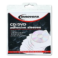 Self-Adhesive CD/DVD Sleeves, 10/Pack (並行輸入品)